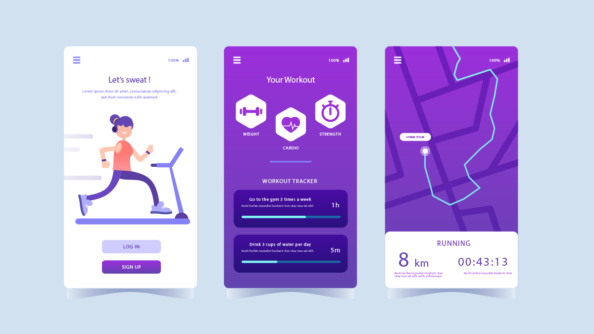 develop a workout streaming app