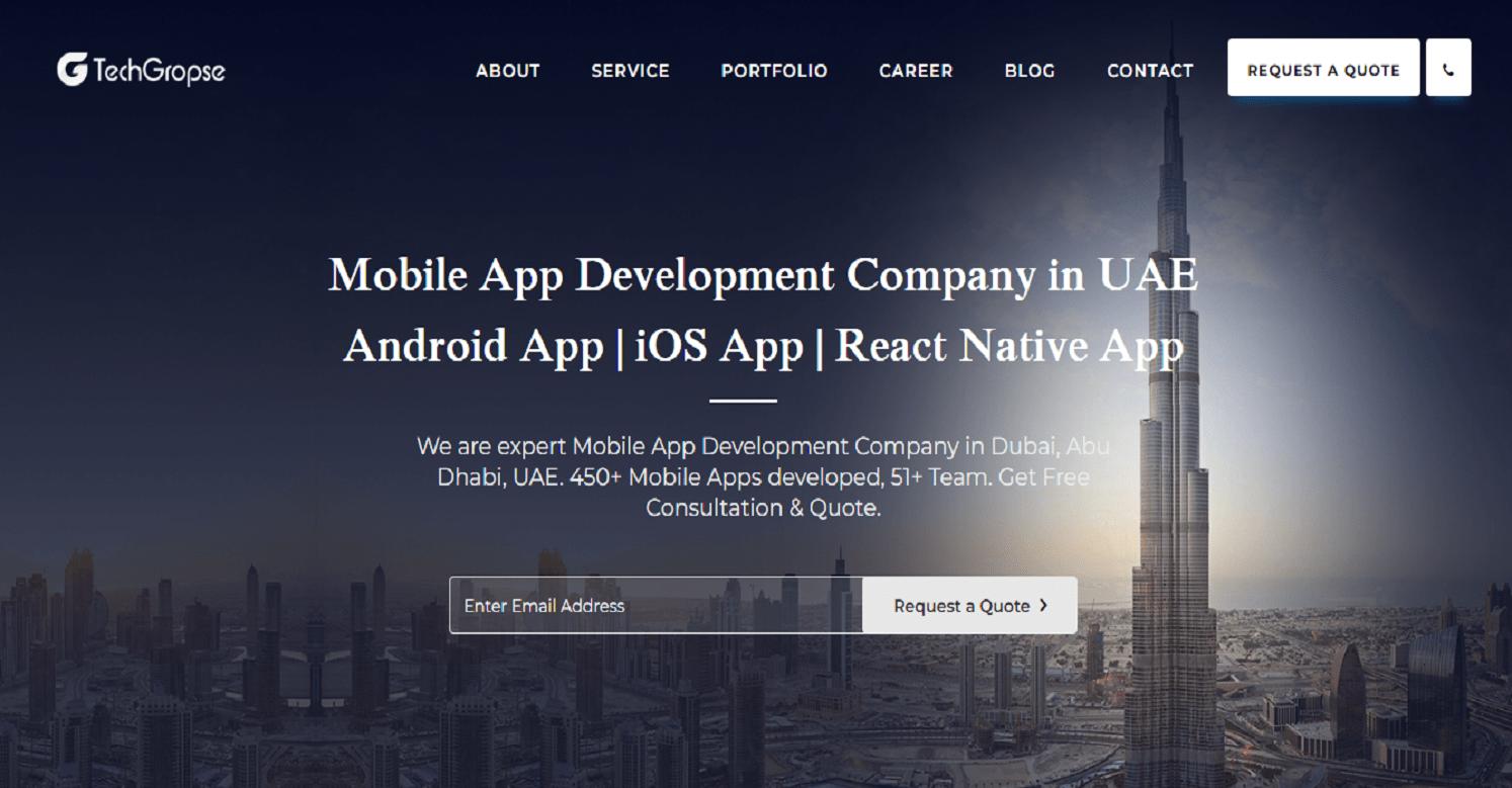Mobile App Development Company in Dubai, UAE | TechGropse